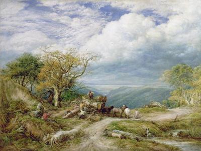 The Timber Waggon, 1872-John Linnell-Framed Giclee Print