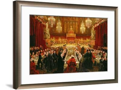 Banquet Given by the Corporation of London to the Prince Regent, the Emperor of Russia and the…-Luke Clennell-Framed Giclee Print