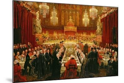 Banquet Given by the Corporation of London to the Prince Regent, the Emperor of Russia and the…-Luke Clennell-Mounted Giclee Print