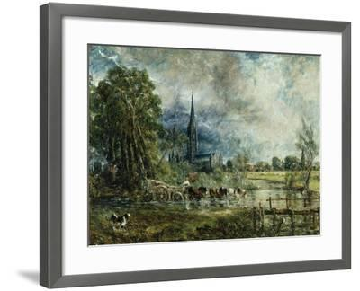 Salisbury Cathedral from the Meadows, 1829-31-John Constable-Framed Giclee Print