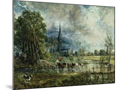 Salisbury Cathedral from the Meadows, 1829-31-John Constable-Mounted Giclee Print