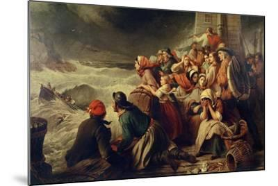 The Life-Boat Going to the Rescue, 1861-Thomas Brooks-Mounted Giclee Print