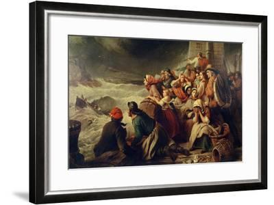 The Life-Boat Going to the Rescue, 1861-Thomas Brooks-Framed Giclee Print