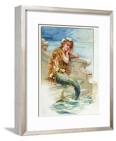 Little Mermaid, by Hans Christian Andersen (1805-75)-E^s^ Hardy-Framed Giclee Print