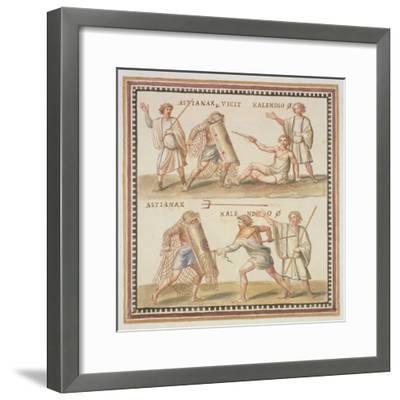 Ms Gen 1496 Plate Cxxiv Gladiators, 1674-Pietro Santi Bartoli-Framed Giclee Print