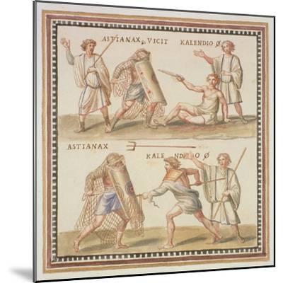 Ms Gen 1496 Plate Cxxiv Gladiators, 1674-Pietro Santi Bartoli-Mounted Giclee Print