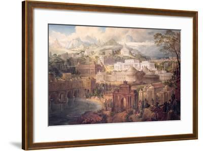 Architectural Visions of Early Fancy, in the Gay Morning of Youth, and Dreams in the Evening of…-Joseph Michael Gandy-Framed Giclee Print