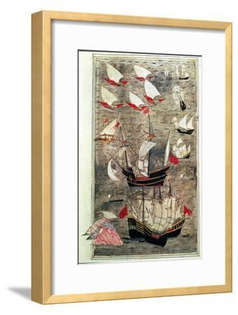 The Ottoman Fleet of Tarik-Y Bayezid--Framed Giclee Print