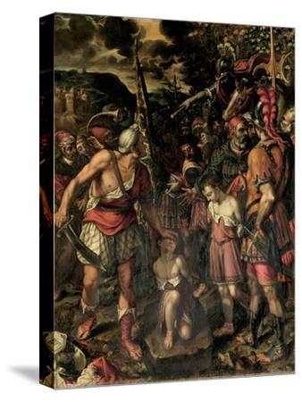 Santos Ninos Justo Y Pastor-Alonso Sanchez Coello-Stretched Canvas Print
