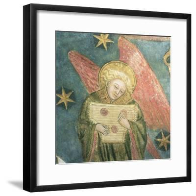 Angel Musician Playing a Psaltery, Detail from the Vault of the Crypt--Framed Giclee Print