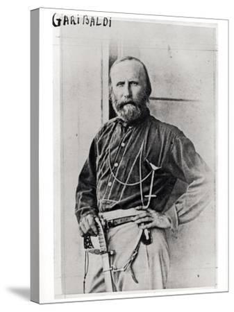 Portrait of Giuseppe Garibaldi (1807-82) 1860-Gustave Le Gray-Stretched Canvas Print