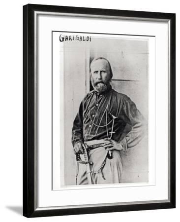Portrait of Giuseppe Garibaldi (1807-82) 1860-Gustave Le Gray-Framed Photographic Print