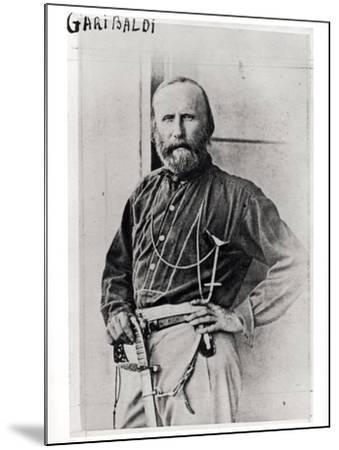 Portrait of Giuseppe Garibaldi (1807-82) 1860-Gustave Le Gray-Mounted Photographic Print