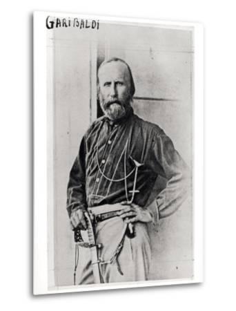 Portrait of Giuseppe Garibaldi (1807-82) 1860-Gustave Le Gray-Metal Print