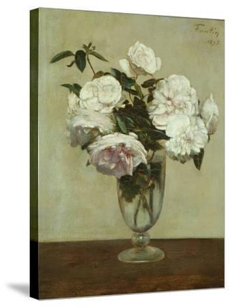 Pink Roses, 1875-Henri Fantin-Latour-Stretched Canvas Print