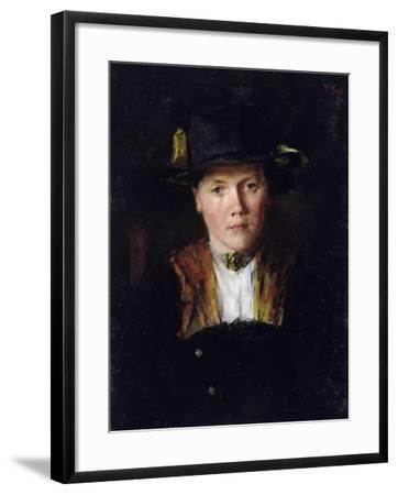A Bavarian Girl, 1897-Wilhelm Maria Hubertus Leibl-Framed Giclee Print