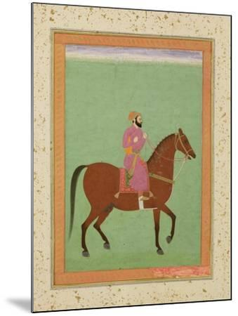 A Mughal Amir on Horseback, C.1670-80, from the Large Clive Album--Mounted Giclee Print