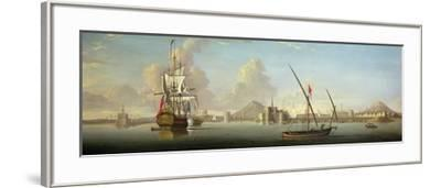 An Extensive View of the Port of Alexandria with a British Man O'War at Anchor-J. Cook-Framed Giclee Print