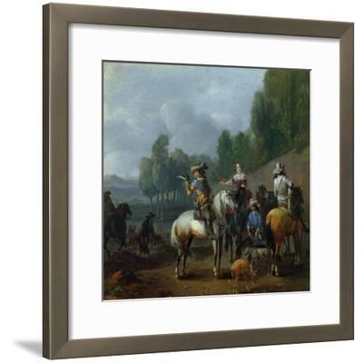 A Hawking Party-Philips Wouwermans Or Wouwerman-Framed Giclee Print