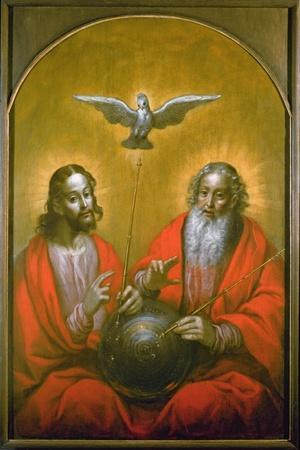 The Holy Spirit with a Model of Ptolemy's World, 1610-Hermann Han-Stretched Canvas Print