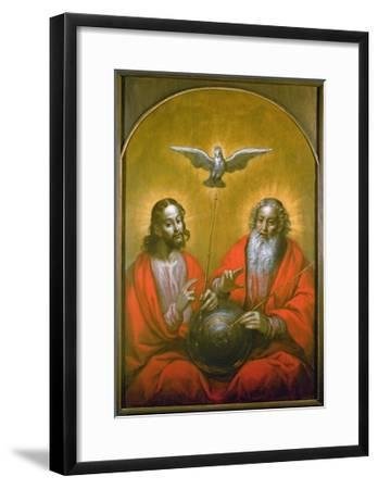 The Holy Spirit with a Model of Ptolemy's World, 1610-Hermann Han-Framed Giclee Print