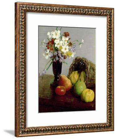 Fruits and Flowers, 1866-Henri Fantin-Latour-Framed Giclee Print