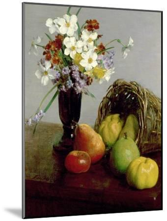 Fruits and Flowers, 1866-Henri Fantin-Latour-Mounted Giclee Print