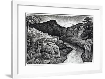 The Sheep of His Pasture, C.1828, from an Edition of 350 Prints Published for the Album 'A…-Edward Calvert-Framed Giclee Print