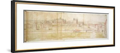 Hampton Court Palace from the North, C.1544-Anthonis van den Wyngaerde-Framed Giclee Print