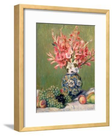 Still Life of Fruits and Flowers, 1889-Pierre-Auguste Renoir-Framed Premium Giclee Print