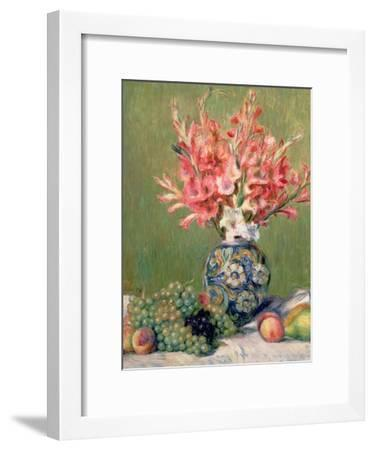 Still Life of Fruits and Flowers, 1889-Pierre-Auguste Renoir-Framed Giclee Print
