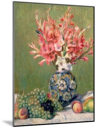 Still Life of Fruits and Flowers, 1889-Pierre-Auguste Renoir-Mounted Giclee Print
