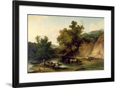 The River Wye at Tintern Abbey, 1805-Philip James De Loutherbourg-Framed Giclee Print