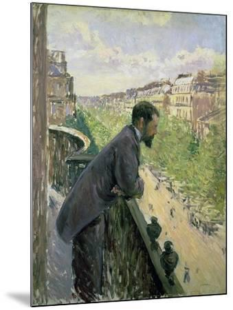 Man on a Balcony, C.1880-Gustave Caillebotte-Mounted Giclee Print