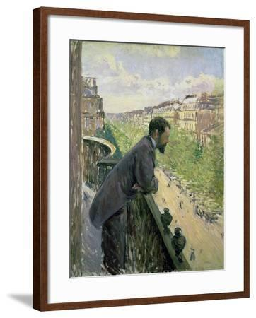 Man on a Balcony, C.1880-Gustave Caillebotte-Framed Giclee Print