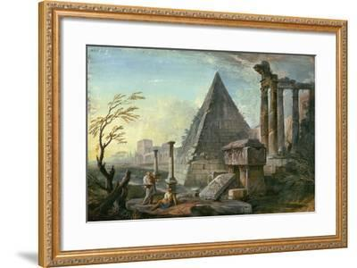 Pyramid of Caius Cestius at Rome-Jean-Baptiste Lallemand-Framed Giclee Print