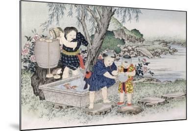 Goldfish from the Series 'Children's Games', 1888-Kobayashi Eitaku-Mounted Giclee Print