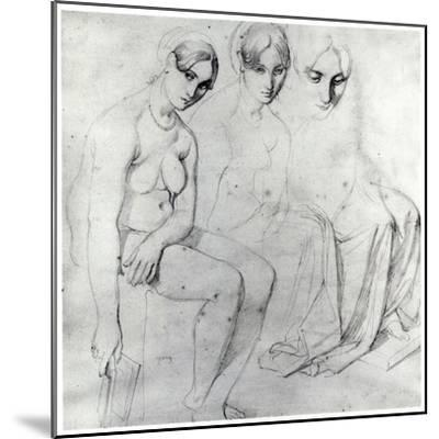 Study for Francesca Da Rimini-Jean-Auguste-Dominique Ingres-Mounted Giclee Print