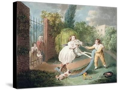 The Rocking Horse, C.1793-James Ward-Stretched Canvas Print