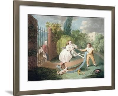 The Rocking Horse, C.1793-James Ward-Framed Giclee Print