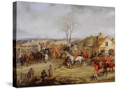 Hunting Scene, the Meet-Henry Thomas Alken-Stretched Canvas Print