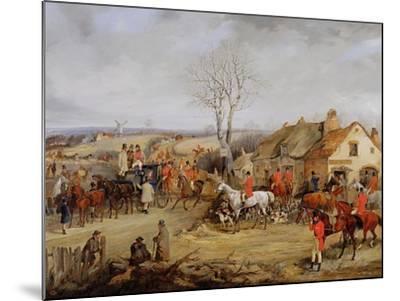 Hunting Scene, the Meet-Henry Thomas Alken-Mounted Giclee Print