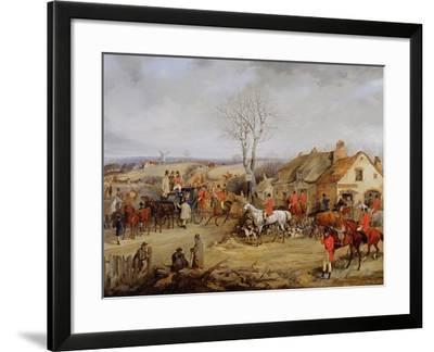 Hunting Scene, the Meet-Henry Thomas Alken-Framed Giclee Print