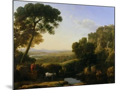 A Sunset or Landscape with Argus Guarding Io-Claude Lorraine-Mounted Giclee Print