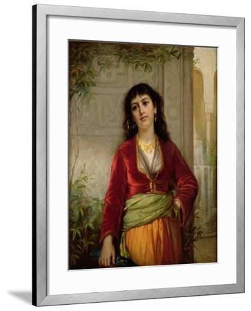 The Unwelcome Companion (A Street Scene in Cairo), C.1872-73-John William Waterhouse-Framed Giclee Print