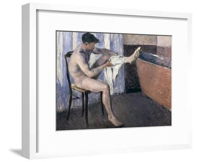 Man Drying His Leg-Gustave Caillebotte-Framed Giclee Print