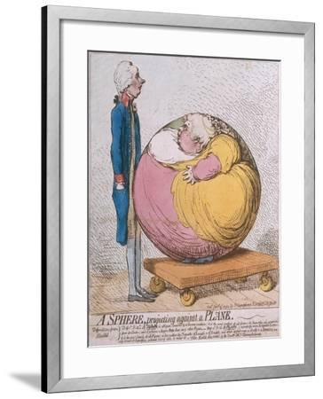 A Sphere Projecting Against a Plane, Published by Hannah Humphrey in 1792-James Gillray-Framed Giclee Print