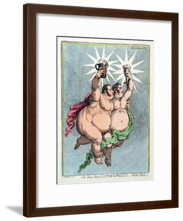 The Twin Stars, Castor and Pollux, Published by Hannah Humphrey in 1799-James Gillray-Framed Giclee Print