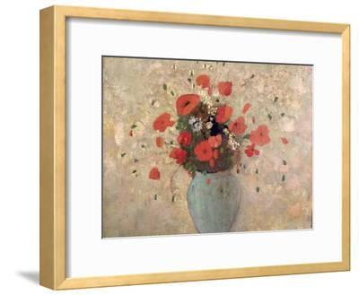 Vase of Poppies-Odilon Redon-Framed Giclee Print