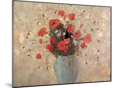 Vase of Poppies-Odilon Redon-Mounted Giclee Print